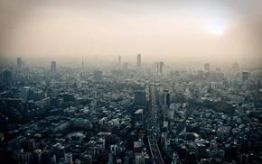 cityscape, road, smog, Japan, city, Tokyo
