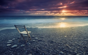 nature, beach, landscape, coast, clouds, sea