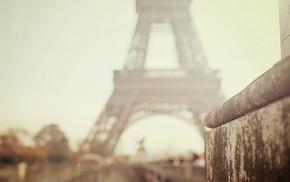Eiffel Tower, high view, street, road, city