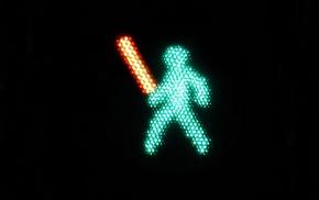 minimalism, traffic lights, Star Wars, Adobe Photoshop, lightsaber
