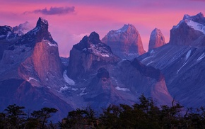 sunrise, Torres del Paine, nature, Chile, landscape, Patagonia