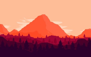 mountain, artwork
