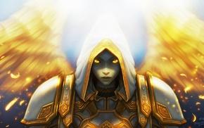 angel, priest, knights, fantasy art, World of Warcraft