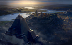Game of Thrones, city, pyramid, Meereen, concept art
