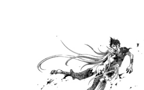monochrome, manga, Deadman Wonderland