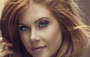 Vanessa Jade, multiple display, redhead, blue eyes, girl