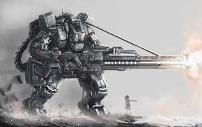 concept art, robot, science fiction