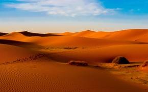 orange, sand, desert, dune, Morocco, landscape