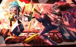 Sword Art Online, Kirigaya Kazuto, Gun Gale Online, Asada Shino