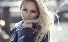 girl, model, portrait, blonde, Dani Diamond, blue eyes