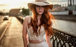 model, blue eyes, girl, redhead, Georgiy Chernyadyev