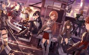 Sword Art Online, Gun Gale Online, Tsuboi Ryoutarou, Ayano Keiko, Shinozaki Rika, Yuuki Asuna