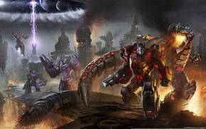 Grimlock, Optimus Prime, video games, Transformers