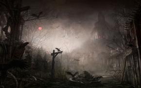 Diablo III, illustration, Tristram, fantasy art