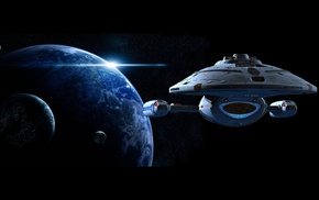 Star Trek Voyager, space, planet, Star Trek