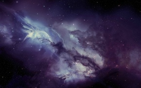 stars, JoeyJazz, space art, space, digital art, nebula