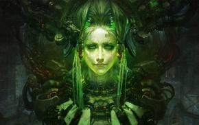 fantasy art, cyberpunk