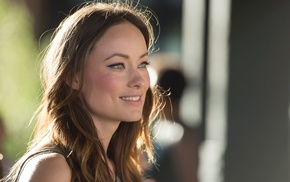 celebrity, girl, depth of field, Olivia Wilde, looking away, brunette