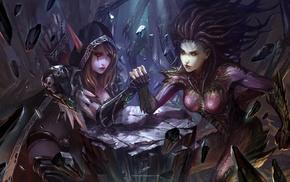 Queen of the Forsaken, heroes of the storm, Kerrigan, Queen of Blades, Sylvanas Windrunner