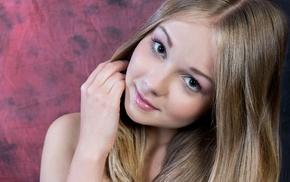 blonde, girl, green eyes, model, face, Jeff Milton