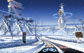 Japan, futuristic, winter, Culture Japan, seasons