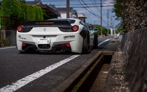 car, Liberty Walk, widebody, Ferrari, Ferrari 458, LB Performance