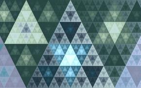 Fibonacci sequence, digital art, 3D, triangle, abstract, fractal