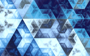 3D, golden ratio, triangle, hexagon, mathematics, Fibonacci sequence