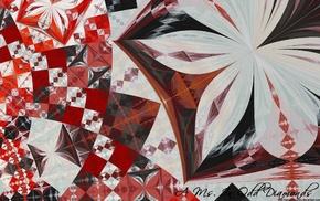 3D, triangle, fractal, abstract, digital art, hexagon