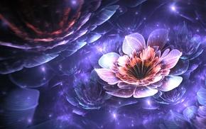 Apophysis, digital art, abstract, flowers, 3D, fractal