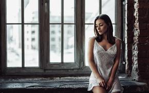 girl, Olga Kobzar, nipples through clothing, Georgiy Chernyadyev, brunette