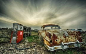 car, HDR, vehicle, wreck
