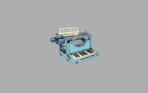 digital art, vintage, minimalism, typewriters, music, humor