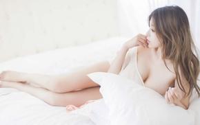 girl, model, brunette, Asian