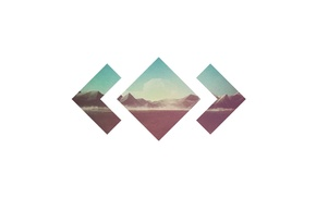 album covers, cover art, Madeon, mountain, simple