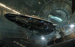 science fiction, Anaconda spaceship, spaceship, Elite Dangerous, video games