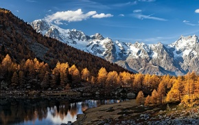 nature, Italy, landscape, Alps, mountain, fall
