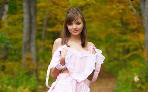 girl, nature, dress, Amelie