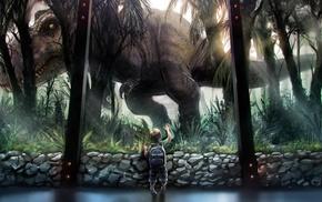 dinosaurs, children, artwork, Jurassic World, fantasy art