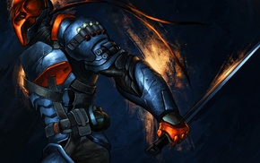 Batman Arkham Origins, Batman, painting, Deathstroke
