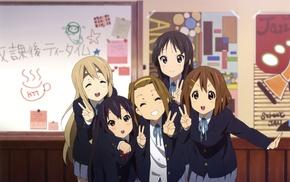 Akiyama Mio, anime girls, K, ON, Nakano Azusa, Tsumugi Kotobuki