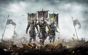 For Honor, war, warrior, samurai, knights, video games