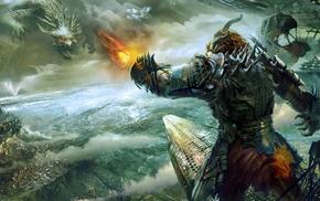 fantasy art, concept art, video games, Guild Wars 2, Guild Wars, dragon