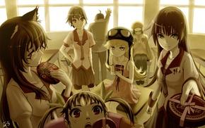 Hanekawa Tsubasa, Kanbaru Suruga, Monogatari Series, Hachikuji Mayoi, Sengoku Nadeko, anime