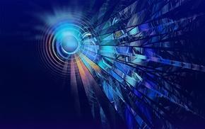 abstract, CGI, lines, digital art, circle, glowing