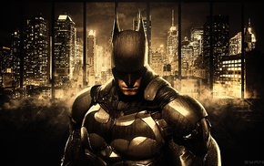 Batman, DC Comics, Gotham, Batman Arkham Knight, cityscape, skyscraper