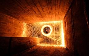 fireworks, lights, fire