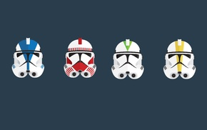 clone commander, minimalism, clone trooper, Star Wars, helmet