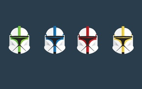 minimalism, clone commander, clone trooper, Star Wars