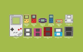 minimalism, consoles, GameBoy, Nintendo, evolution